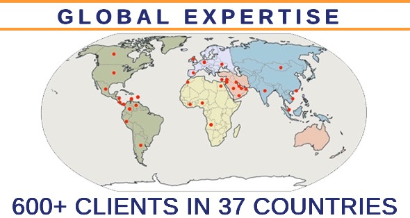 Global Expertise - 600+ Clients in 37 Countries